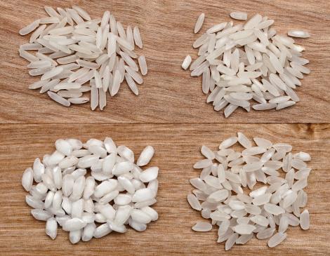 Diferentes variedades de arroz